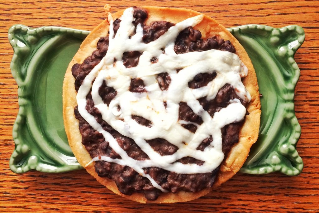 Bean and Cheese Tostada Recipe