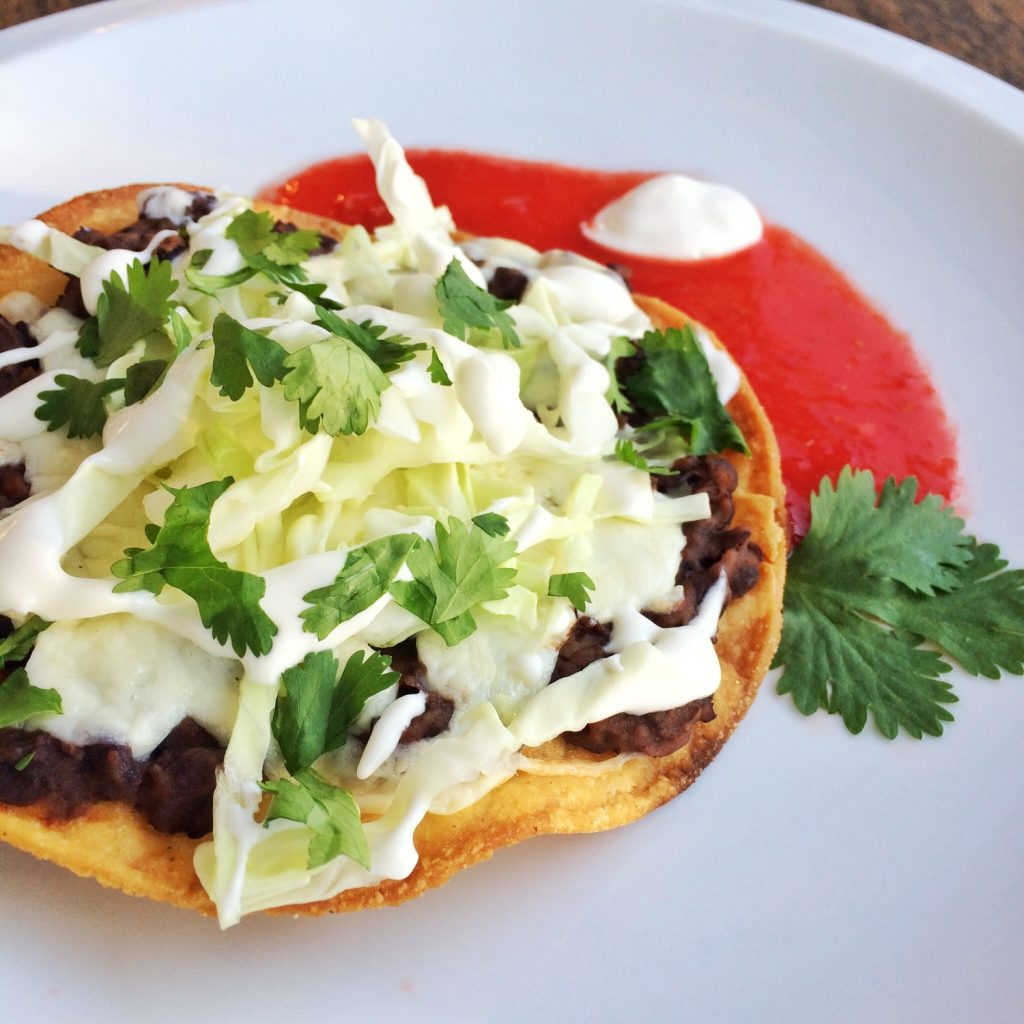 Tostadas – flat, crunchy and no utensils needed.