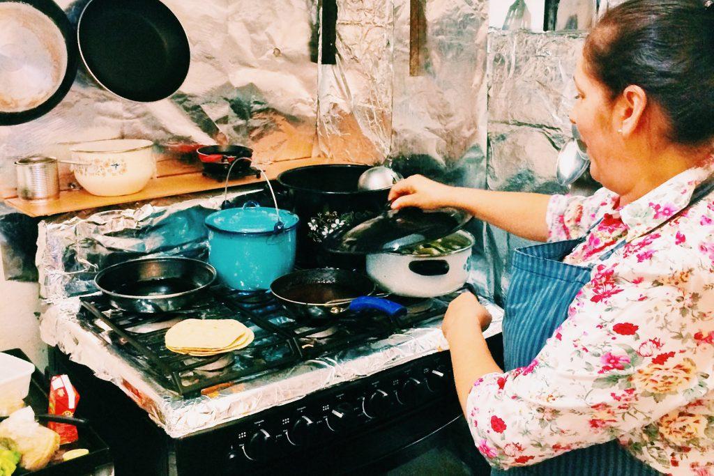 Cooking at the fonda