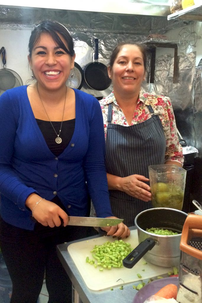Cooking in Mexican Kitchen