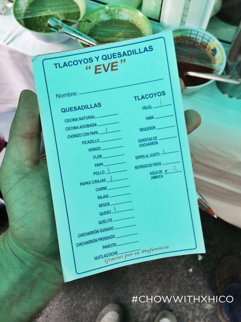 """""""EVE"""" Tlacoyos y Quesadillas"""