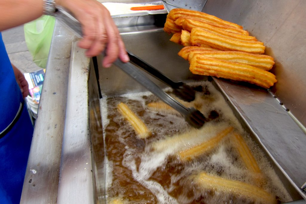 Frying Churros
