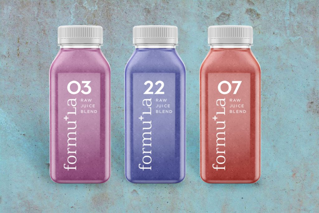 FormuLA Raw Juice Blend Bottle Design