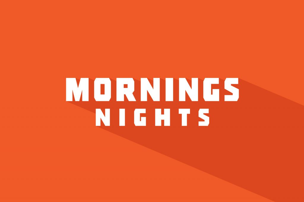 Mornings Nights Cafe Logotype