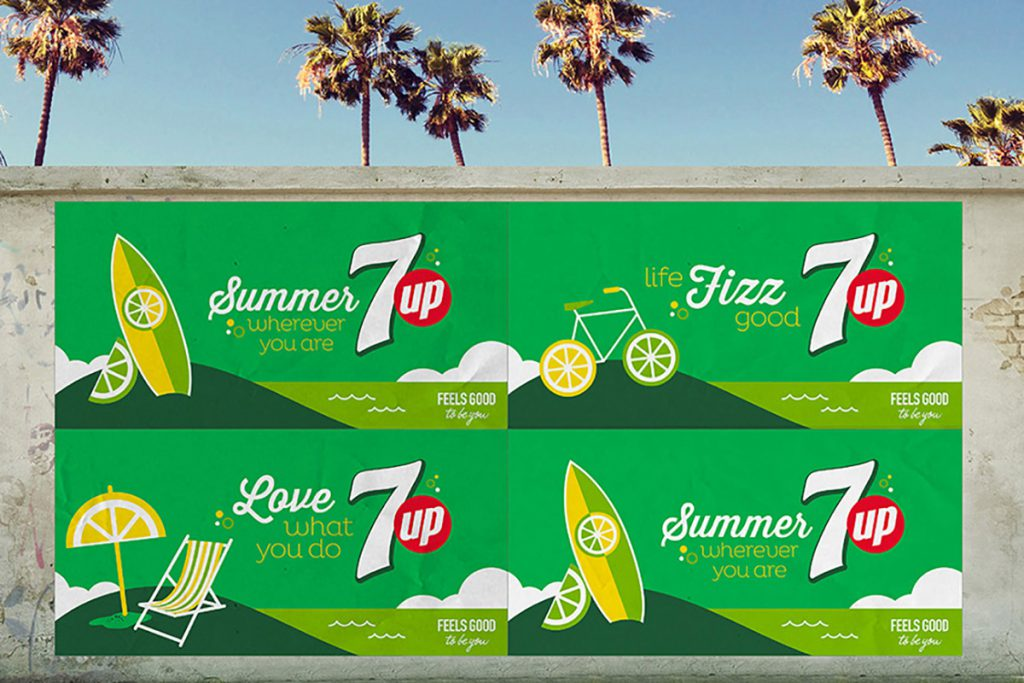 7up Sip Up Summer Campaign Advertising
