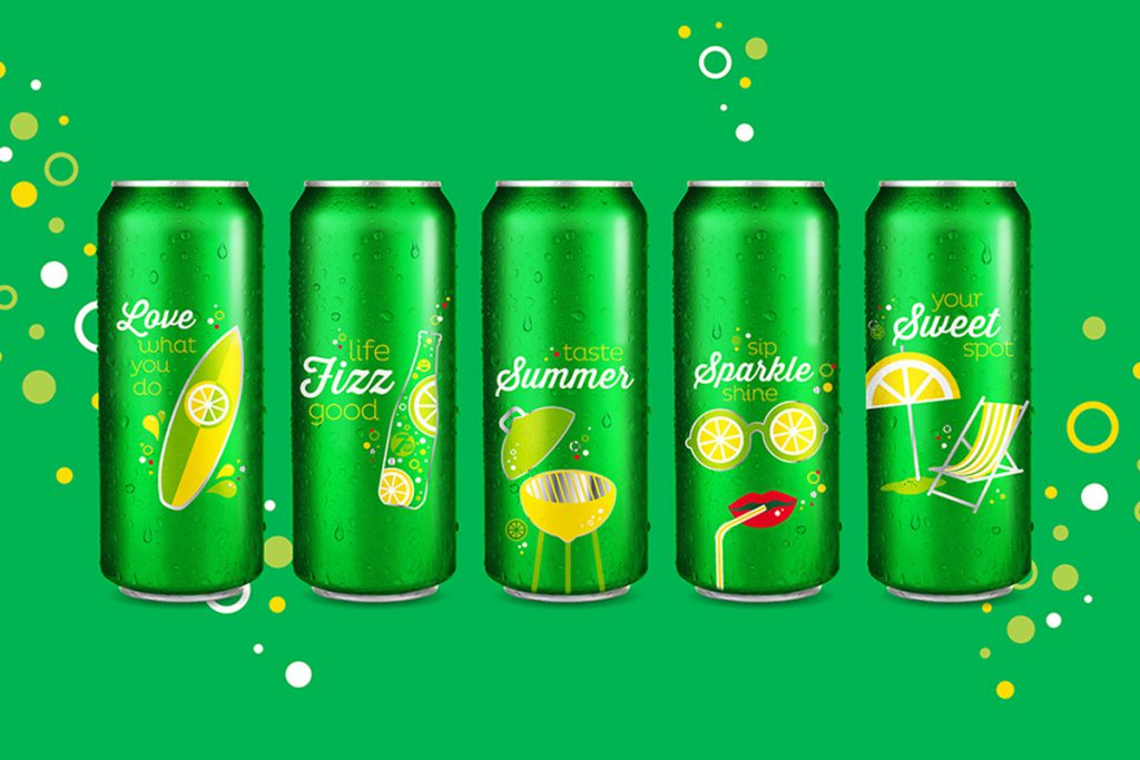 7up Sip Up Summer Campaign Can Designs