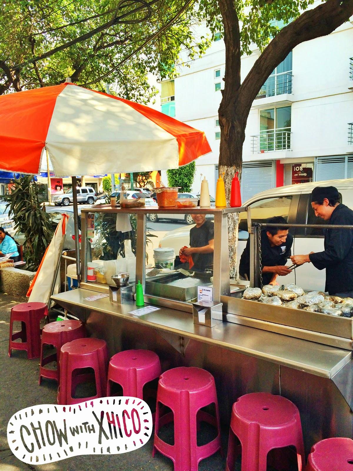 El Papón, Street Food in Mexico City.