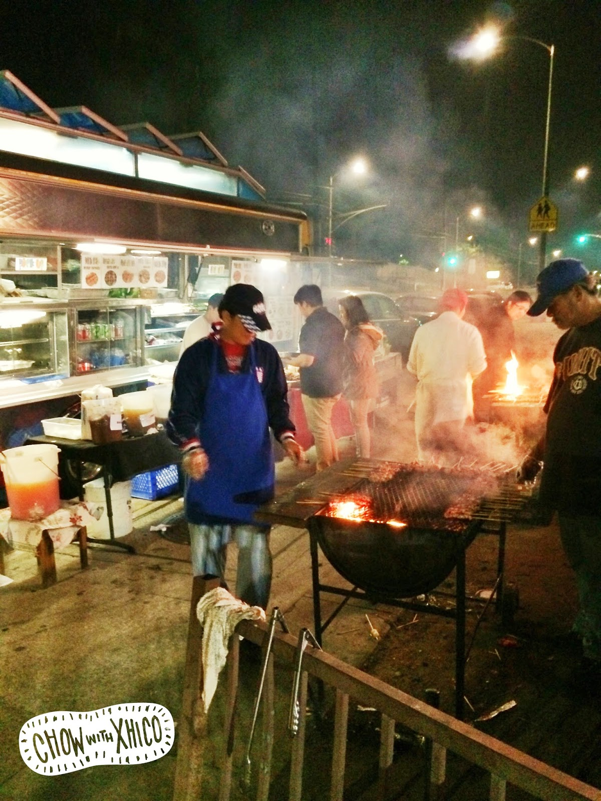 Fire makes food better! BBQ right on the street.