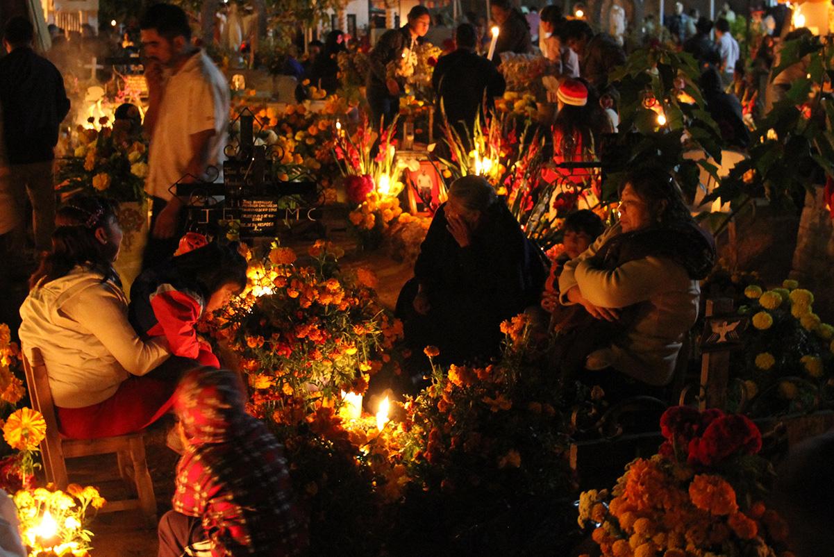 Cemetery in Oaxaca on Day of the Dead