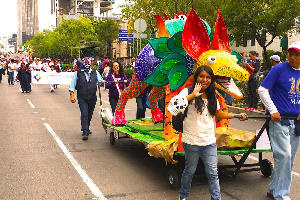 Parade of Alebrijes in Mexico City