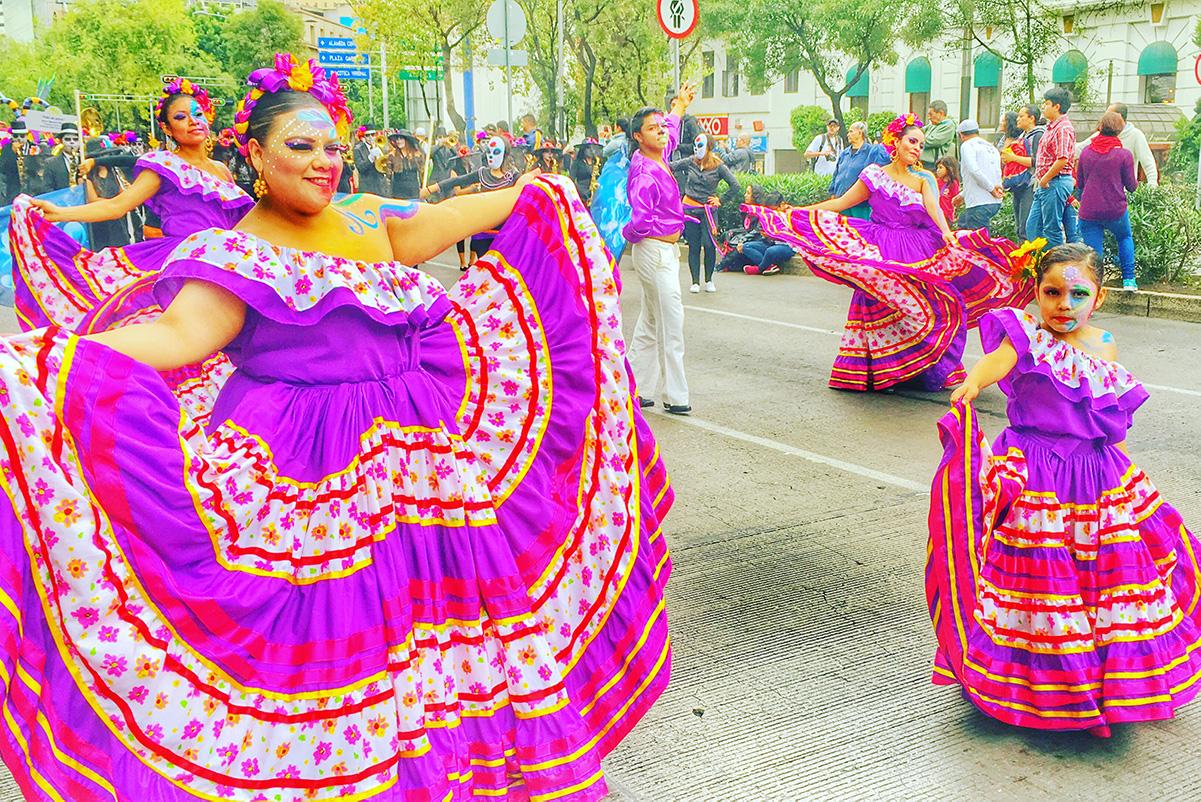 Dancers at the Parade of Alebrijes